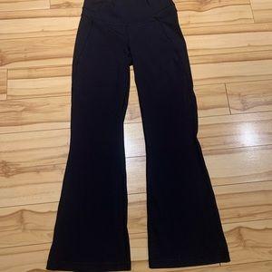 Women's Lulu leggings, wide bottom. Size 10.